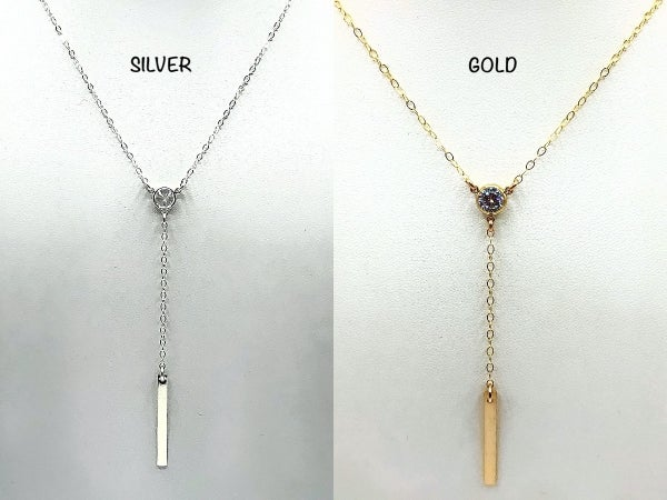 VSJ - Gorgeous Y Necklace with Bar Center