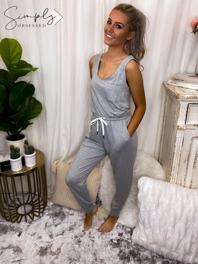 GILLI-Sleeveless jumpsuit with drawstring