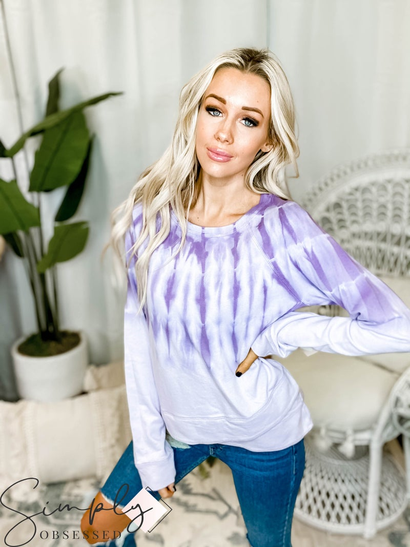 Hem & Thread - Tie Dyed Tulip Bottom Sweatshirt