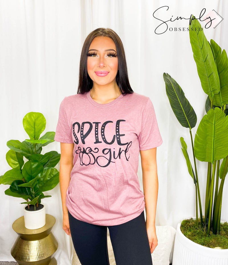 Kissed Apparel - Round Neck Short Sleeve Top with Spice Girls Graphic