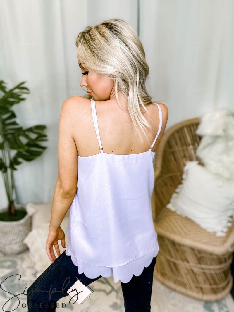 White Birch - Sleeveless solid woven top(All Sizes)