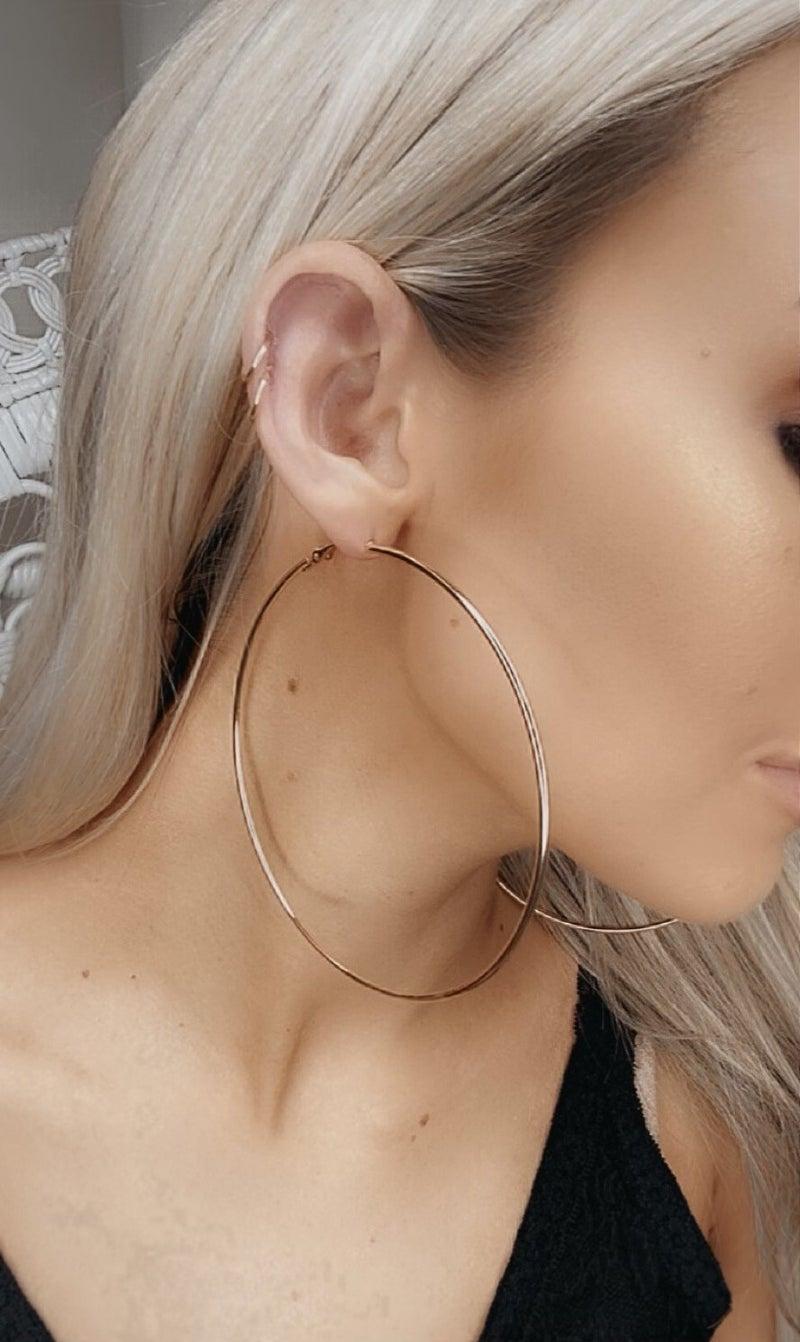 Boho Love - Oversized gold hoop earrings