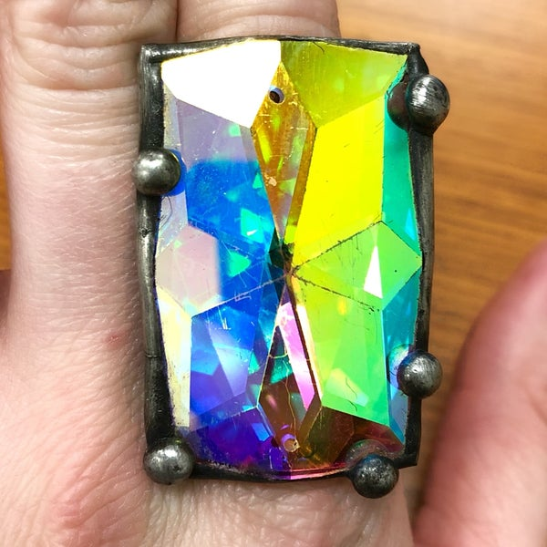 Art By Amy - AB Rectangle Adjustable Ring