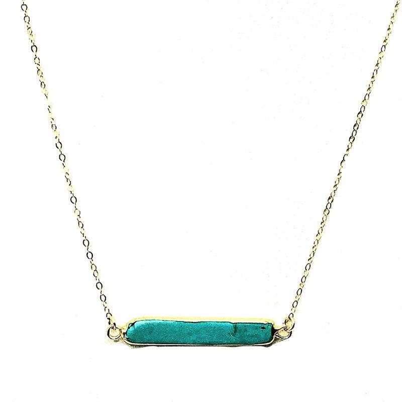 TOASTED J - Turquoise Bar Choker Bar Necklace