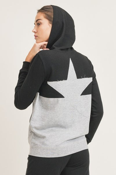 Mono B - Rising Star Color Block Hoodie Pullover