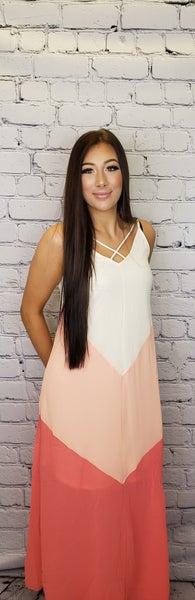 Hailey & Co - Color block maxi dress