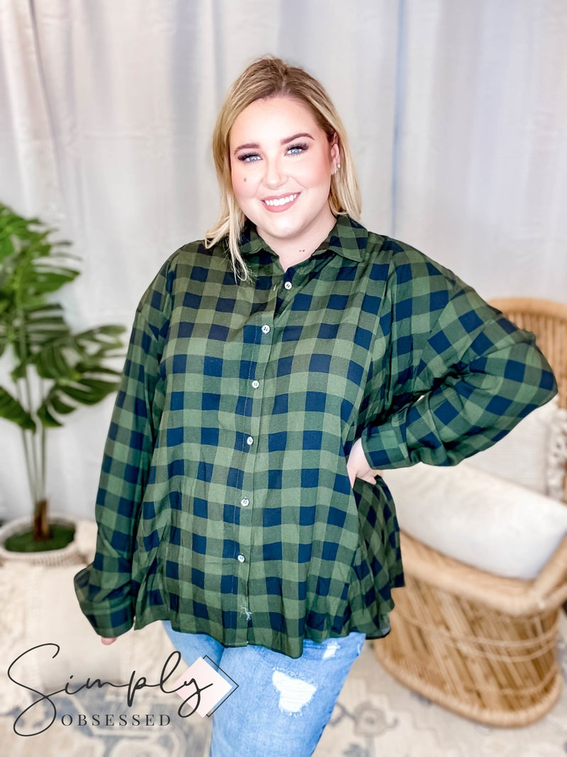EE:Some - Long Sleeve Plaid Button up
