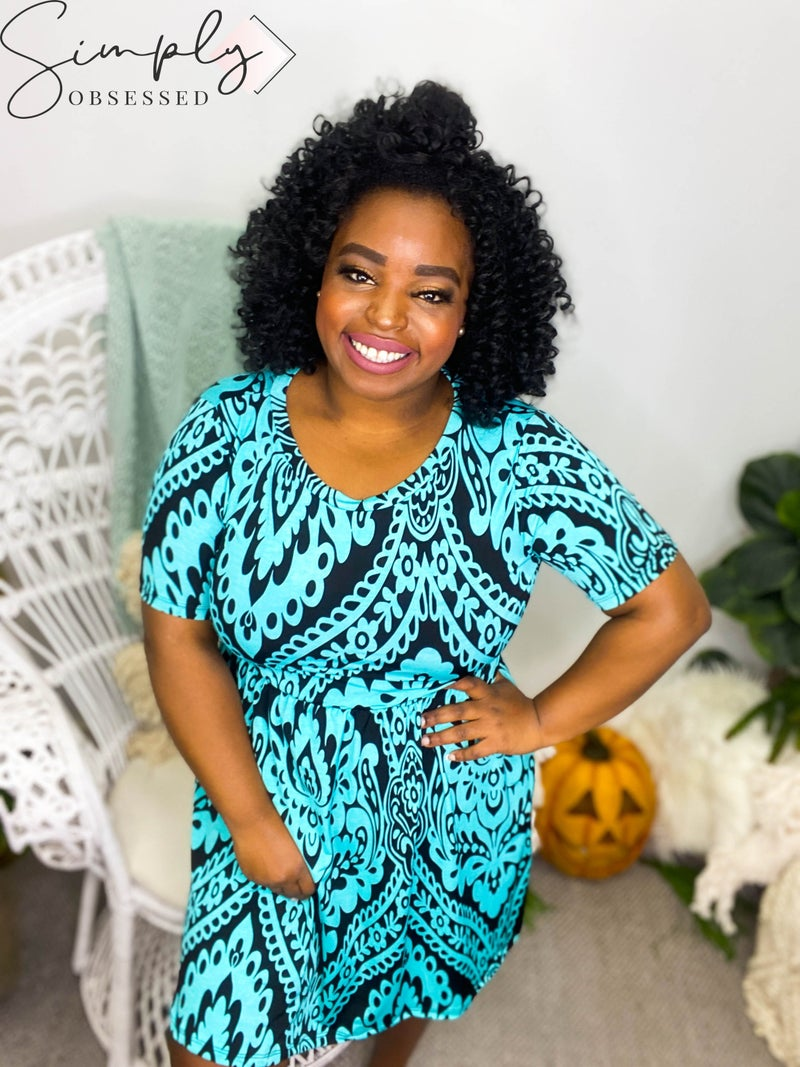 Sew in Love - Short Sleeve Round Neck Dress