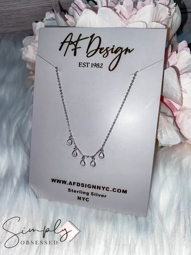 Atlanta NYJ Jewelry First Dibs - Teardrop Bubble Necklace
