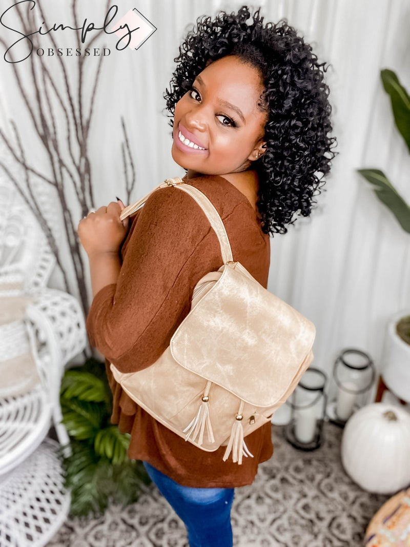 Julia Rose - Backpack with tassle detail