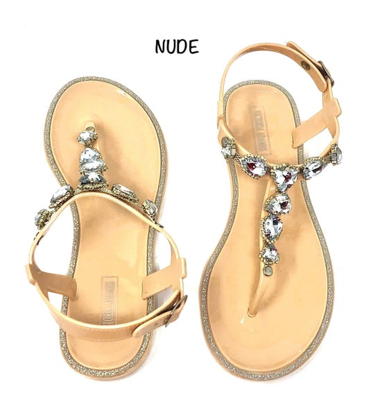Victoria Adames - Jelly Sandals with crystals