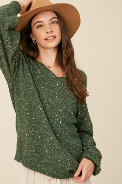 Listicle - Soft Sequence Pull Over Sweater