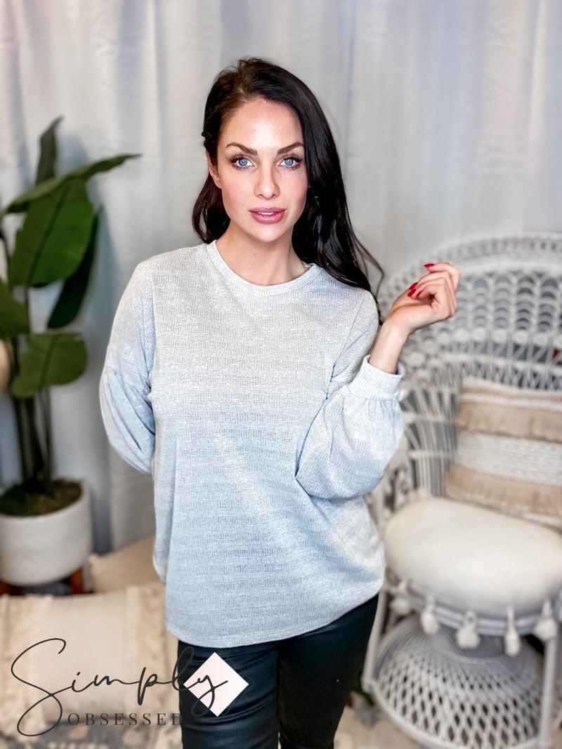 CY Fashion - Bubble Sleeve Long sleeve Top