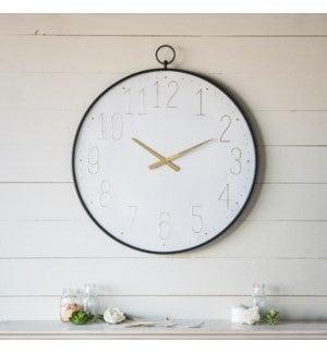 VIP ATL - Black Metal Frame Gloss Clock