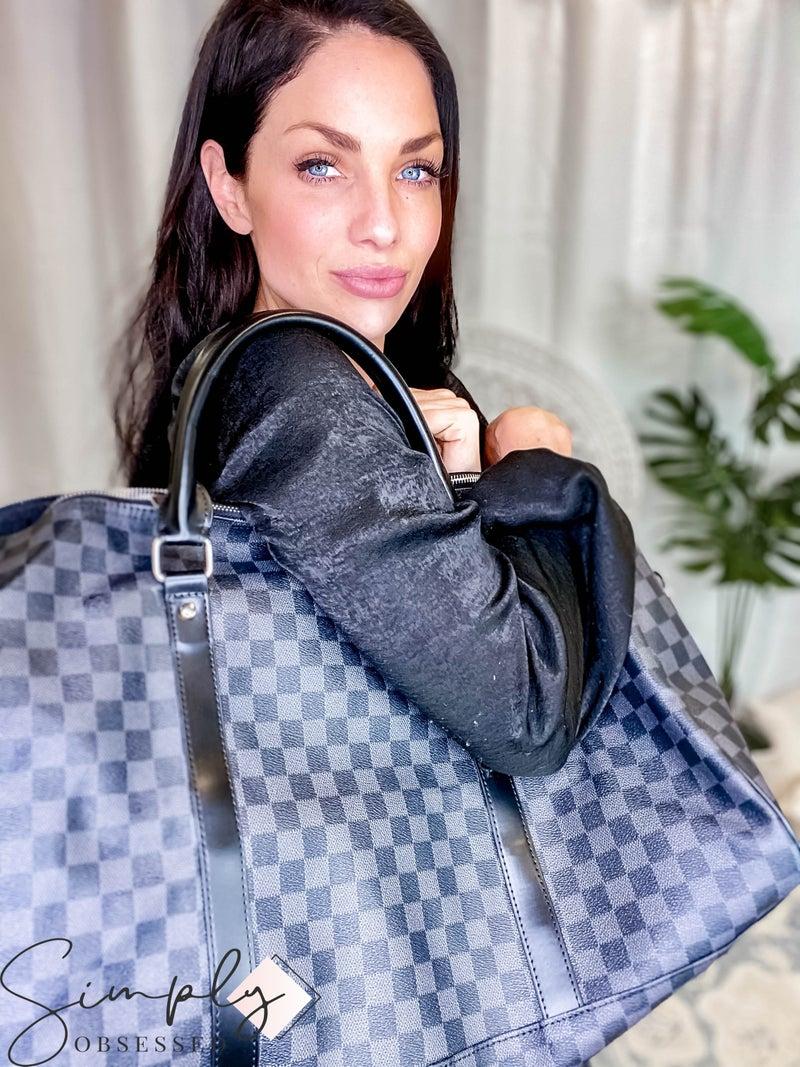 Dani & Em - Checker detail weekender bag