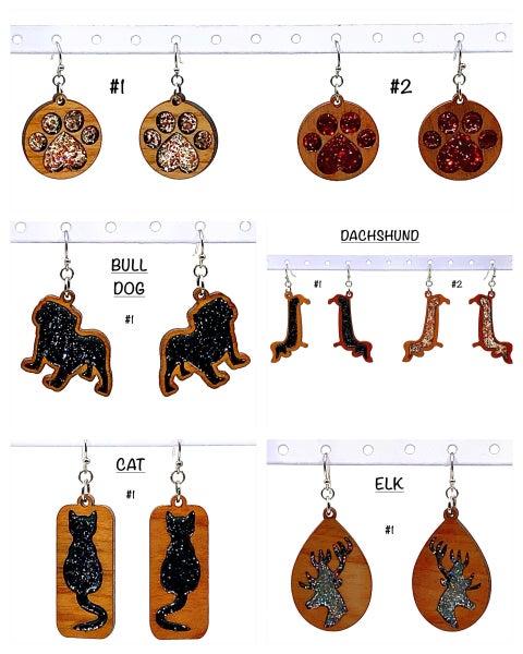 FAIRE - Wood + Glitter Animal Earrings
