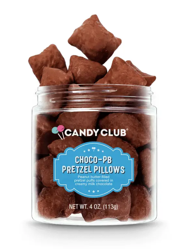 Candy Club - Chocolate PB pretzel pillows