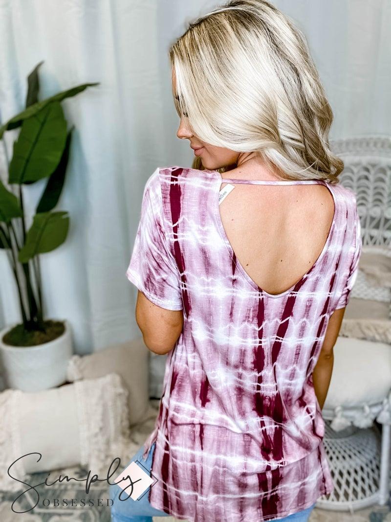 GeeGee - Tie Dye Strappy Open Back Detail Top