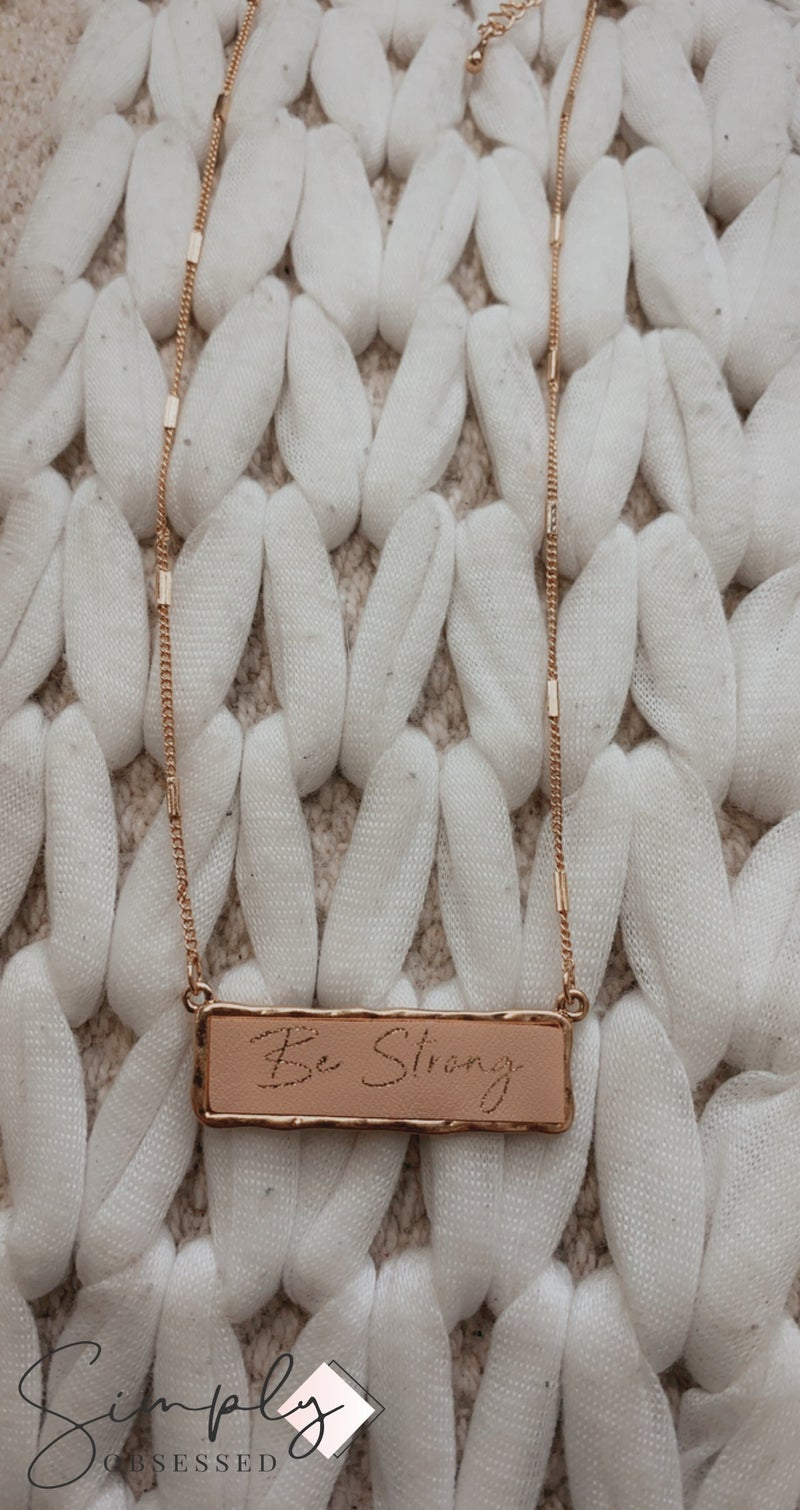 FAIRE -Be Strong Inspirational Charm Necklace