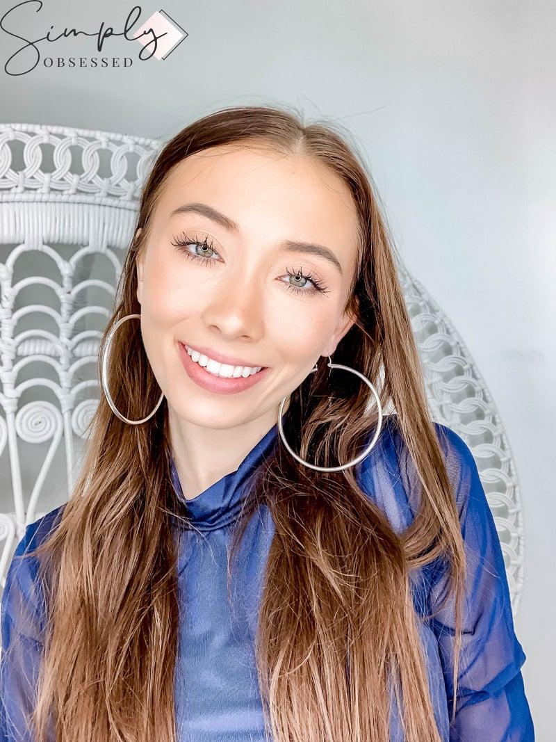 NYJ  - Large Sterling Silver Hoops Earrings