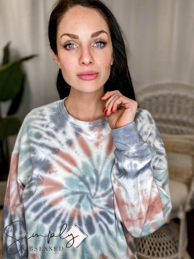 Tres Bien - Spiral Tie Dye Sweater