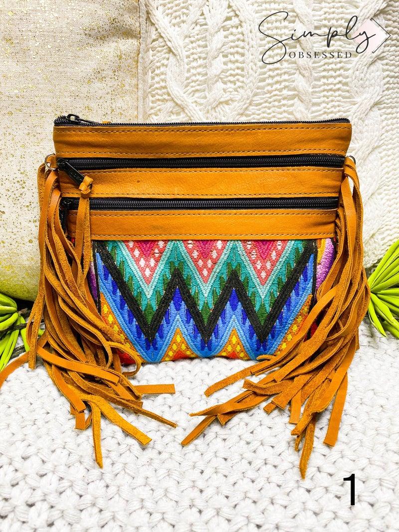 HIPTIPICO-Fringe Crossbody Bag From Guatemala