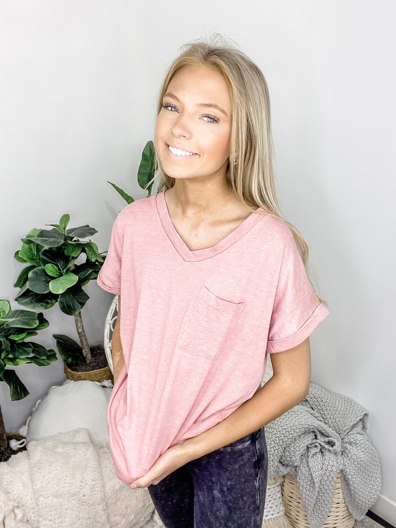 Flamingo - Casual Boyfriend Top