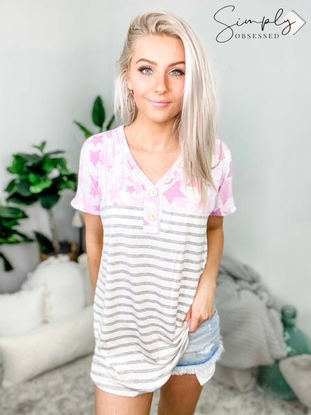 HONEY ME-Stars And Stripes Shirt With Buttons