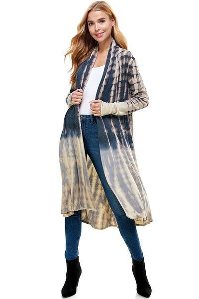 T-Party - Tie Dye Long Sleeve Cardigan