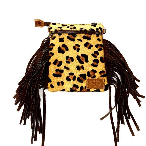 American Darling - Cheetah print tassel detail cross body bag