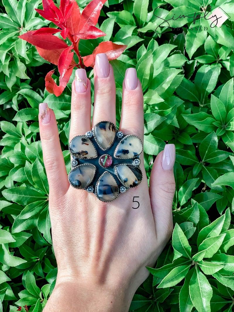 M & S - Cow w/ Doublet Opal Ring