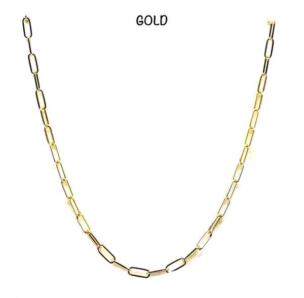 "KB - 32"" Paper Clip Chain Necklace"