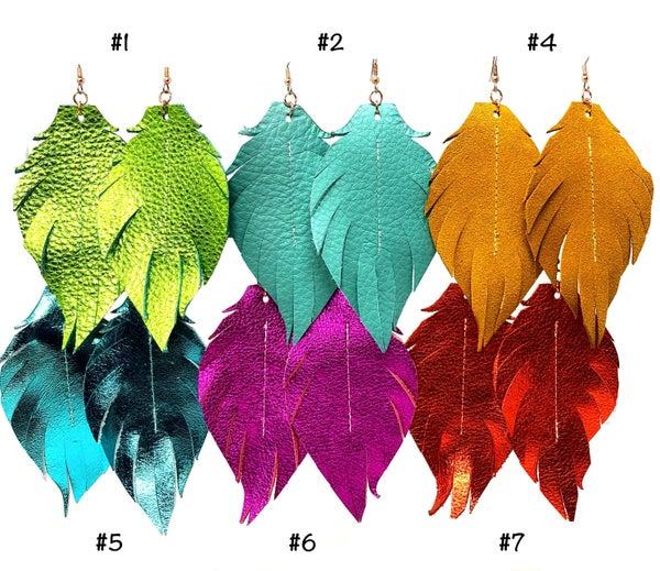 Emerge XL Laura Feather Earrings