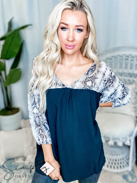Oddi - Woven babydoll top with sheer contrast(All Sizes)