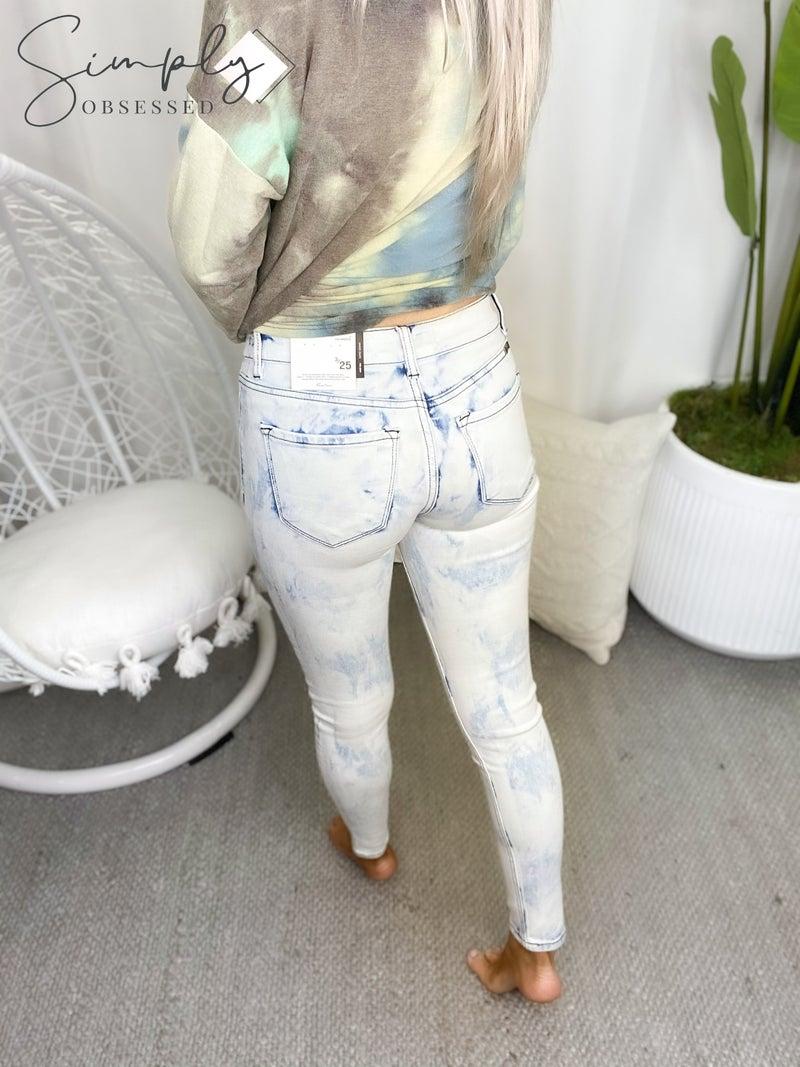 Kancan - Mid rise acid wash skinny jeans