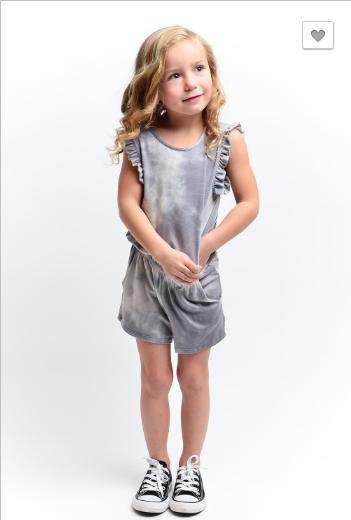 12PM by Mon Ami - Kids sleeveless tie dye print romper