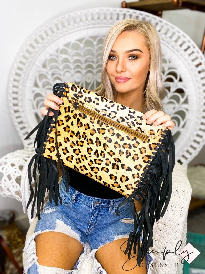 American Darling - Leopard print tassel detail bag