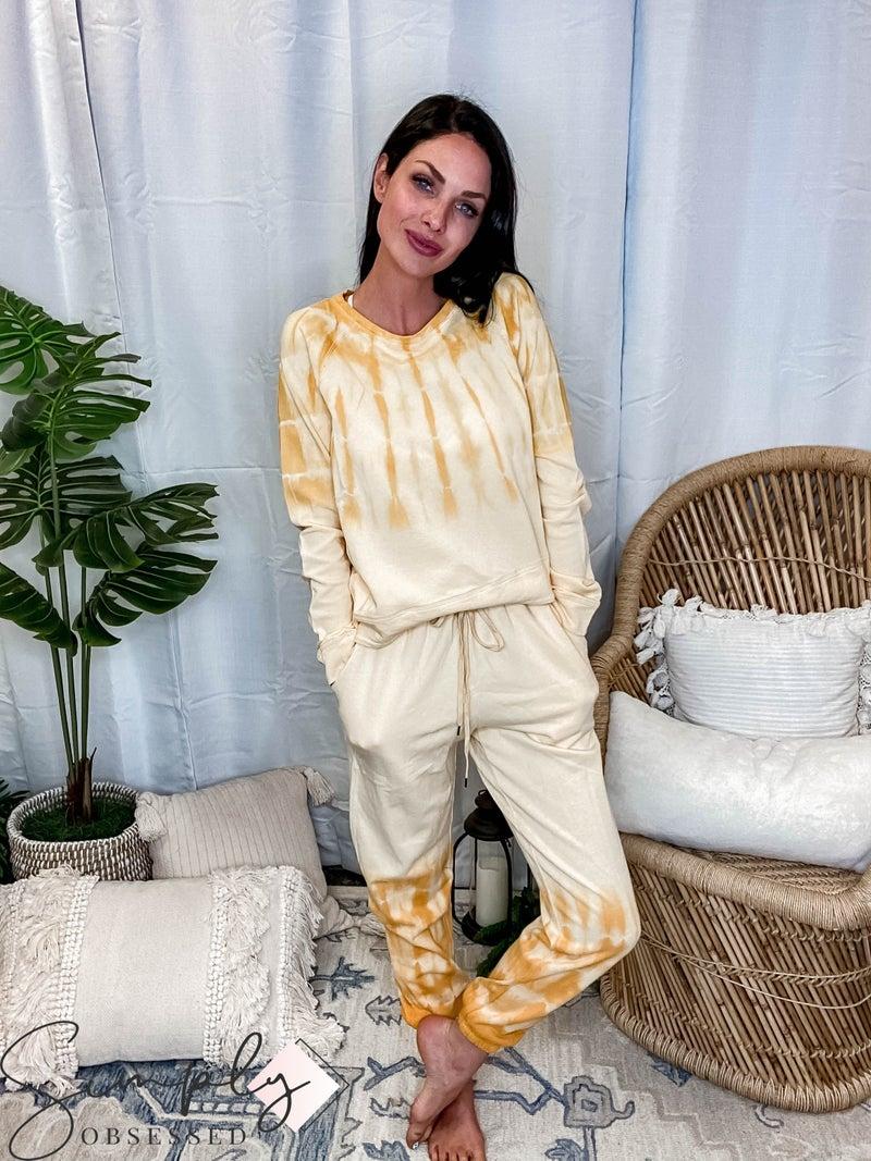 Hem & Thread - Tie Dyed Drawstring Sweatpants