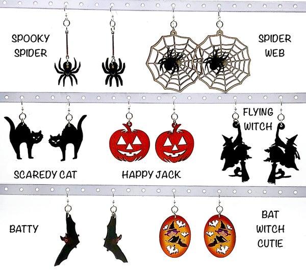 FAIRE - Festive  Wooden Halloween Earrings