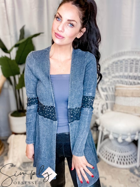 Vocal - Long Sleeve Cardigan W/ Band On Arms
