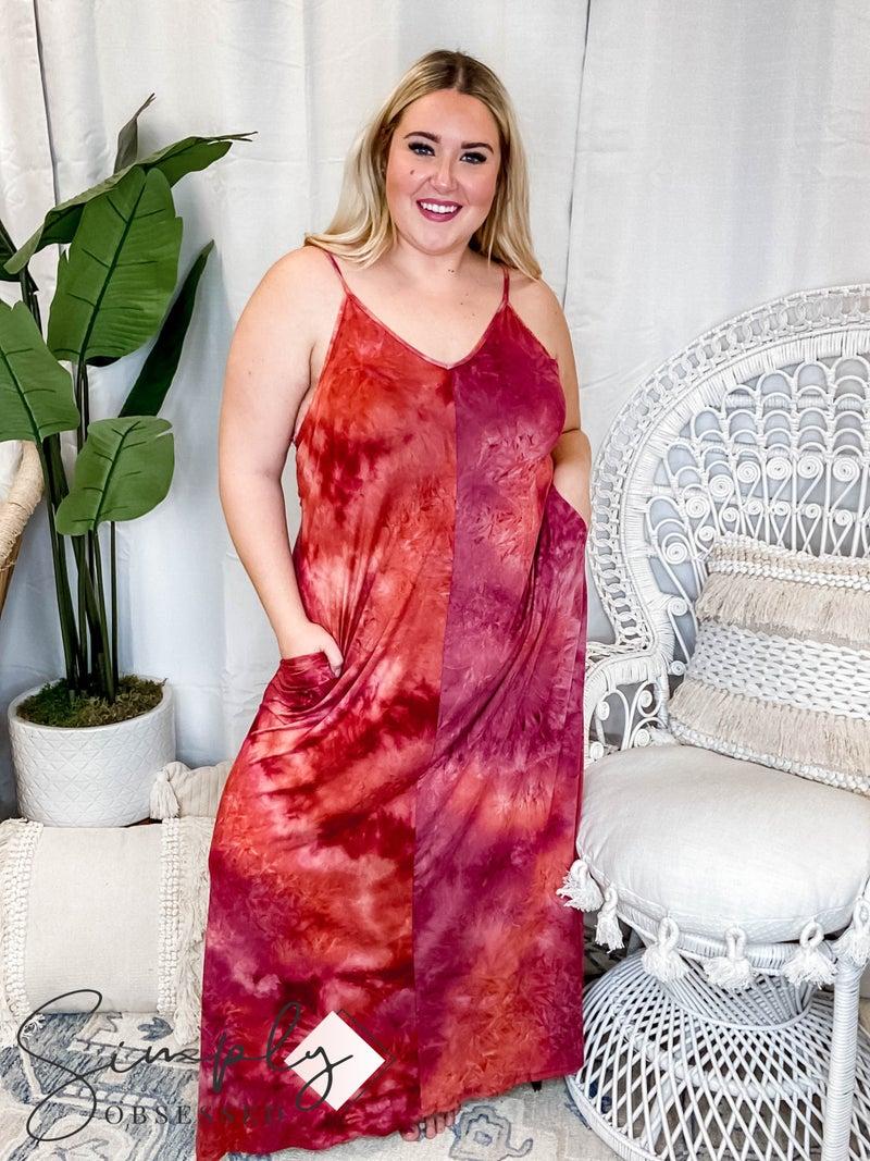 Ninexis - Deep v neck sleeveless maxi dress(All Sizes)