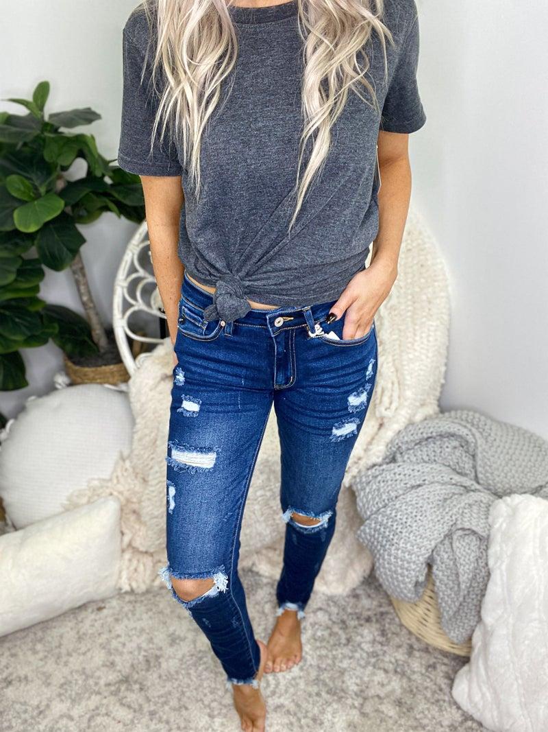 Kancan - Gemma mid rise super skinny jeans