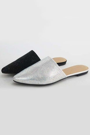 BAMBOO-SLIP ON SHOES WITH BEAD DETAIL