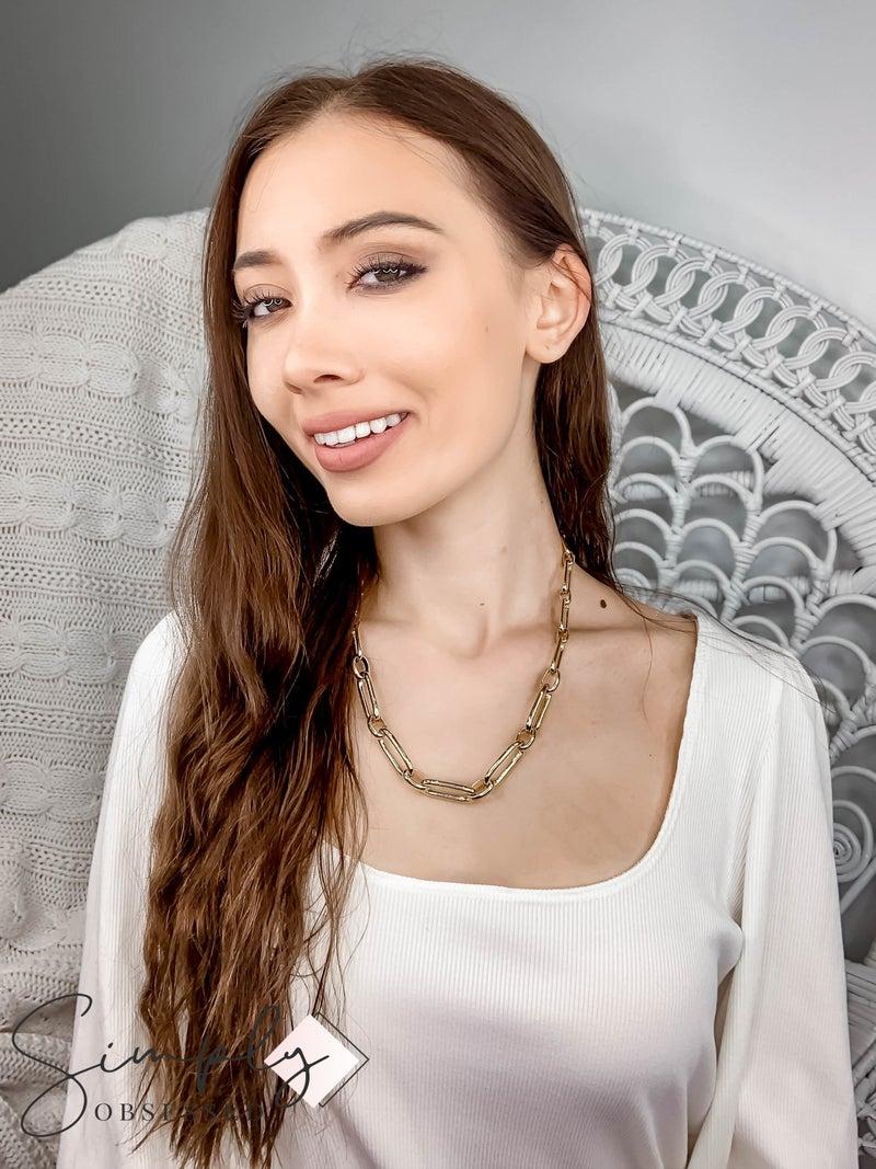 Vidda - Gold Ada Block Chain Necklace