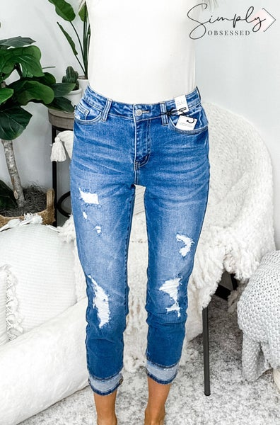 Judy Blue - Plus size high waist insert hem slim fit jeans