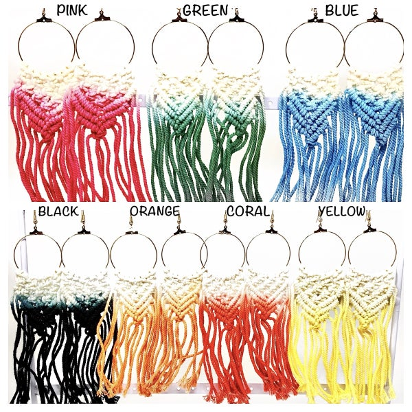 JRW- Gorgeous Handwoven Bohemian Hoop Earrings