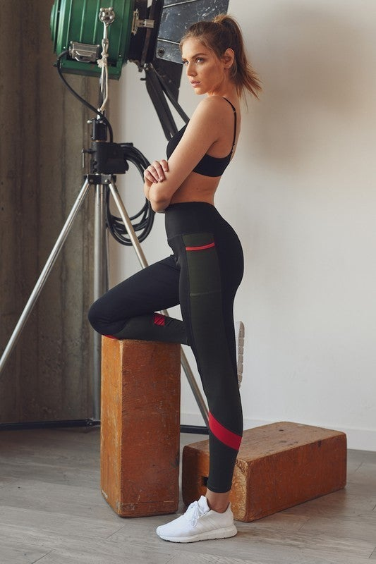 Kimberly - Streamlined sporty contemporary leggings