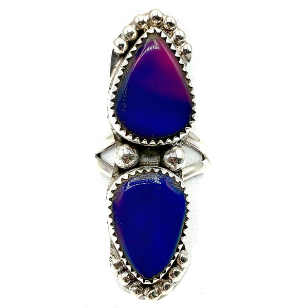 M&S - Galaxy Opal Double Stack Ring