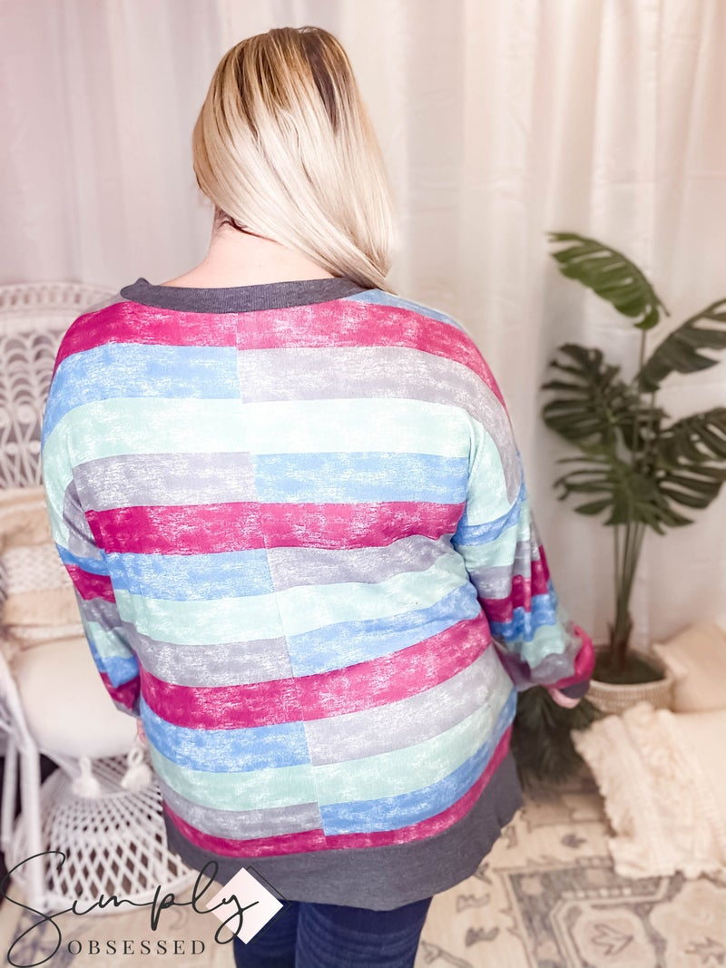 Sew In Love LA First Dibs - Long sleeve v-neck sweater