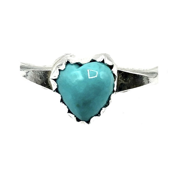 M&S - Small Turquoise Heart Ring